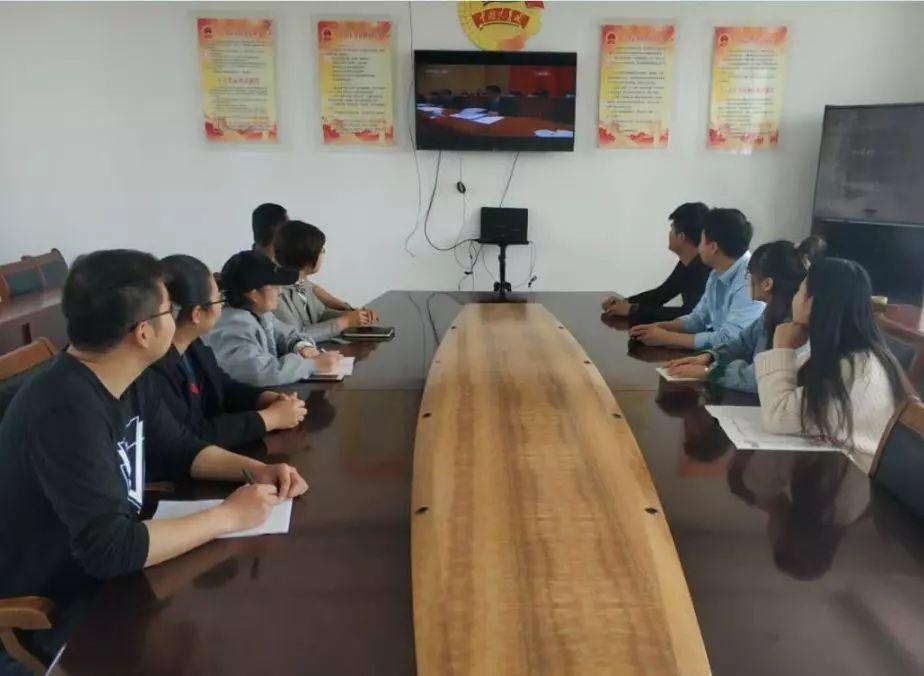 无棣县各级团组织收看纪念五四运动100周年大会