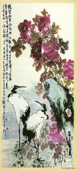 吴保忠,字海峯,号碣石山人。原任教师,退休后,学攻国画,成为我县一代花鸟画名家。