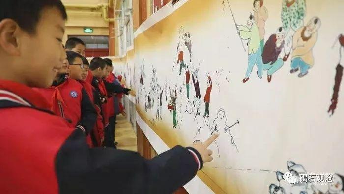 山东无棣:手绘中探寻稚子童心 校园展出鲁北童趣
