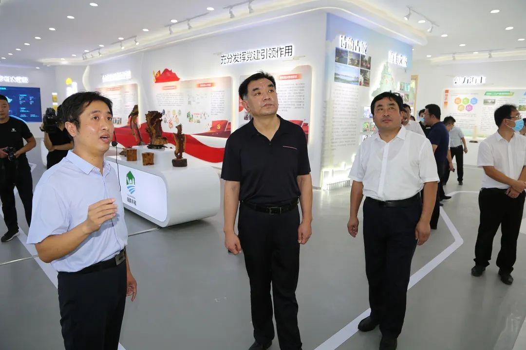 县委书记丁锋调研海丰街道基层社区党建与智连乡村建设工作
